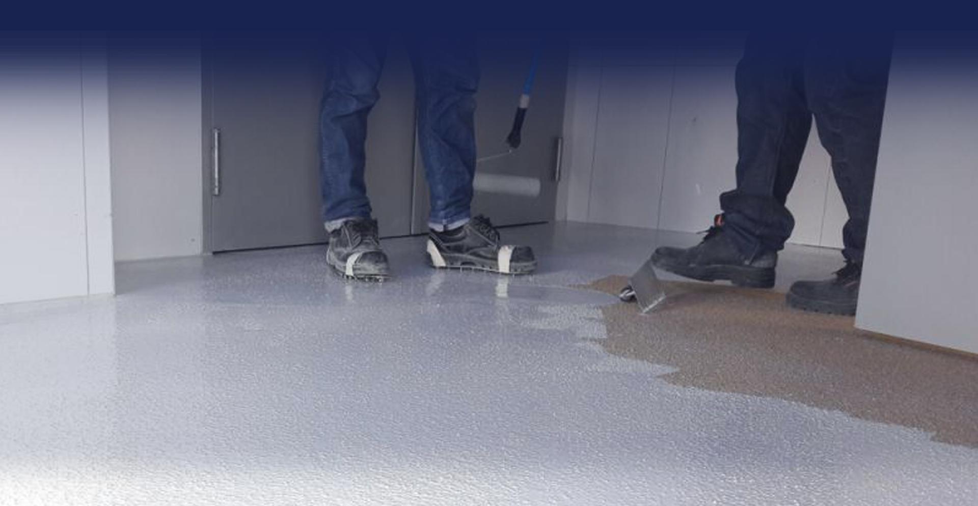 အသက်ရှူနိုင်သော waterborne epoxy self-leveling KERASEAL WB40